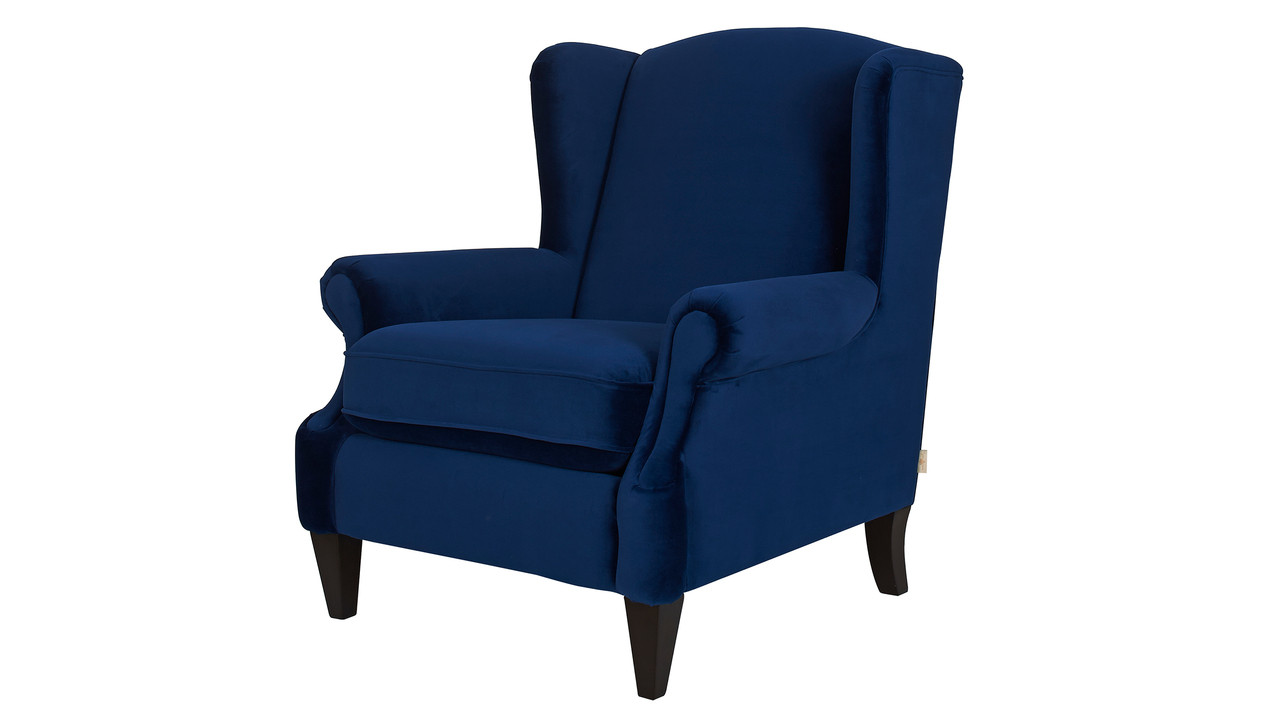 Anya arm chair navy blue jennifer taylor home for Navy blue chair and ottoman
