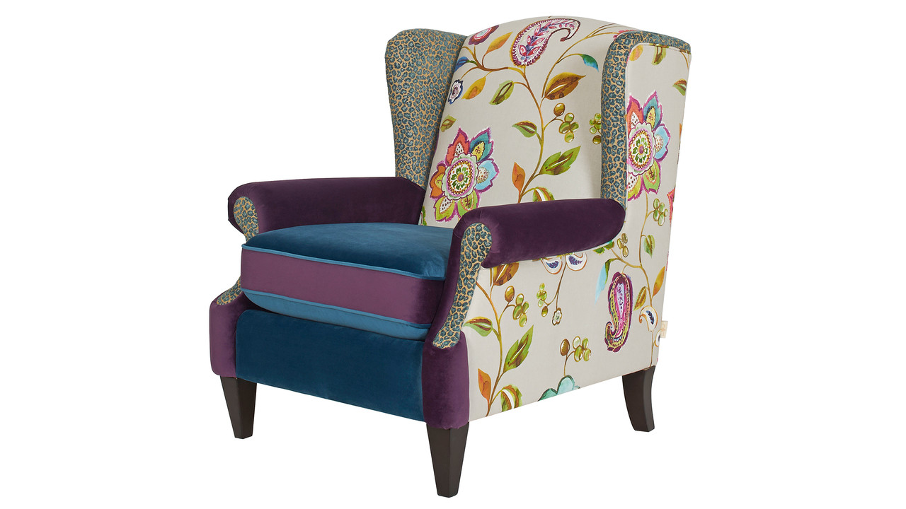 Anya Arm Chair, Floral ...