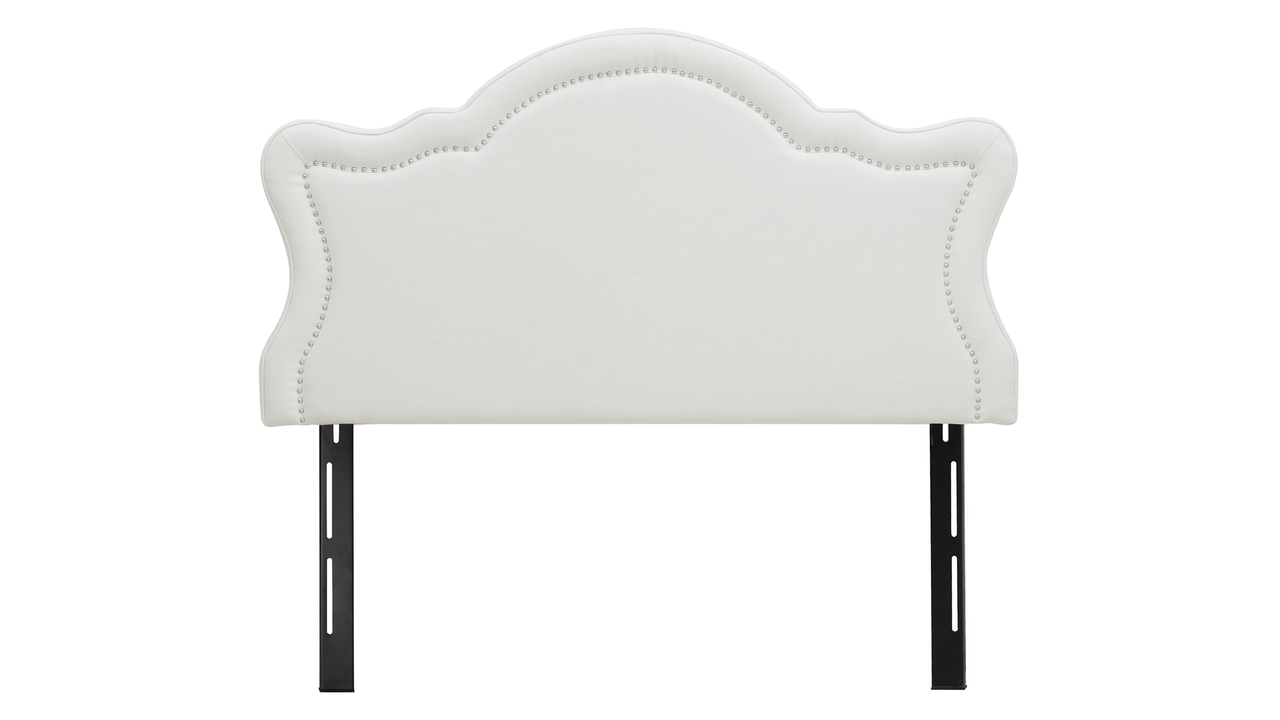 Legacy Upholstered Headboard, Antique White (Queen Size