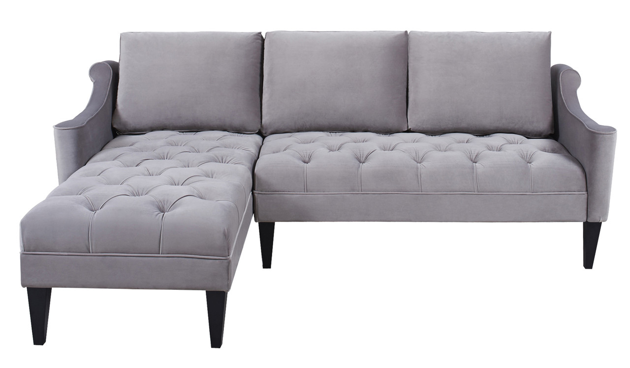 crosshatch sectional chaise media heathered crosby feather piece grey