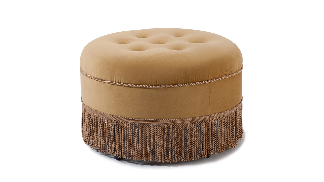 round in sa and charcoal product ottoman out