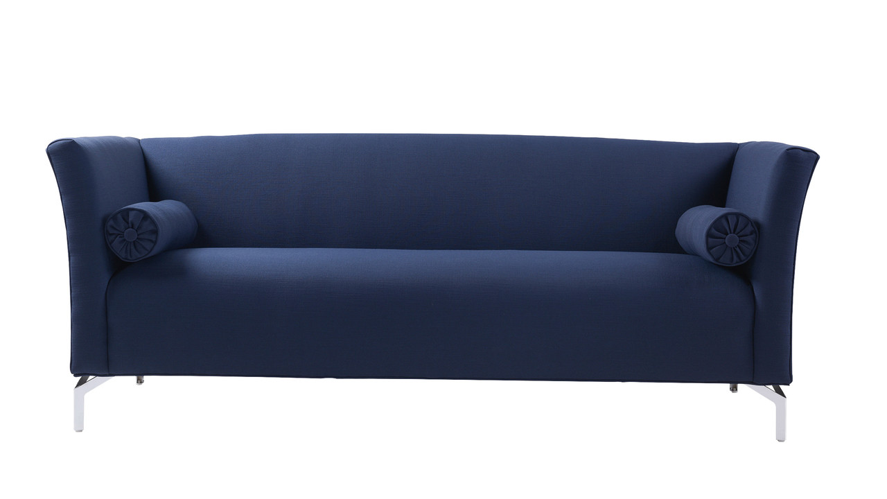 Superieur Camilla Mid Century Modern Sofa, Midnight Blue