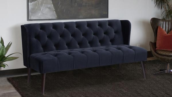 Silvia Tuxedo Sofa, Dark Navy Blue