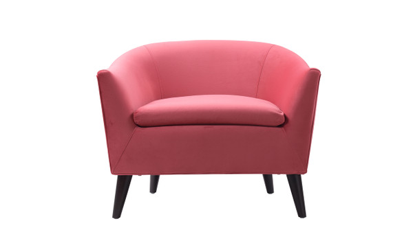 Lia Barrel Chair, Garnet Rose