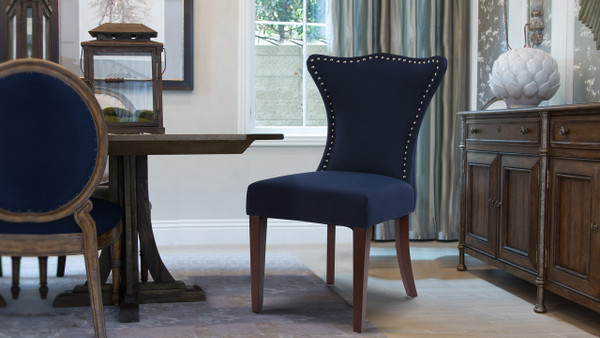 Lorena Accent Parson Chair, Midnight Blue