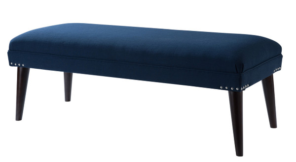 Nadine Entryway Bench, Midnight Blue