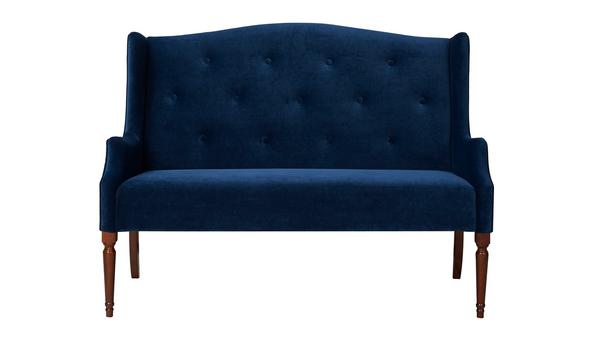 Luxury Izzy Tufted Settee Navy Blue Ideas - Amazing Navy Tufted sofa Style