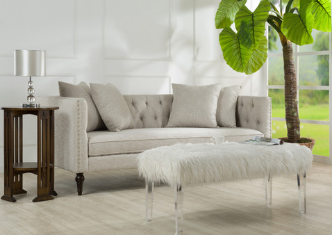 Stanbury Tuxedo Sofa, Sky Neutral