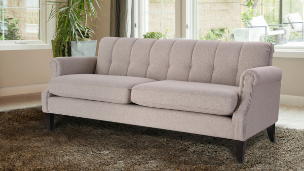 Giotto Channel Back Sofa, Taupe