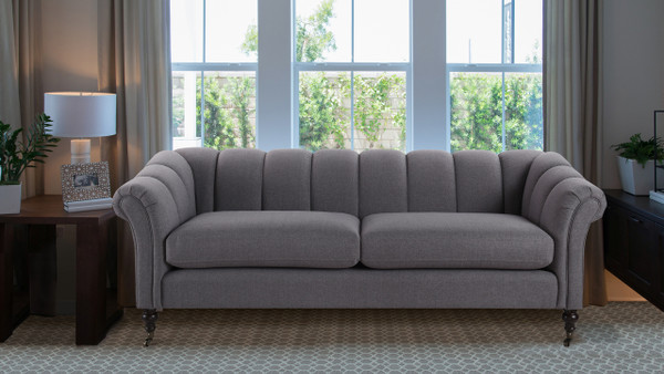 Julia Flared Arm Sofa, Steeple Grey