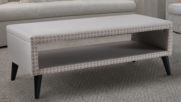 Lorenzo Entryway Bench, Bone White