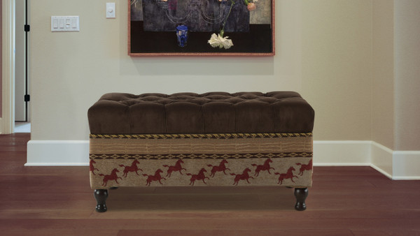 Equestrian Entryway Storage Bench, Brown