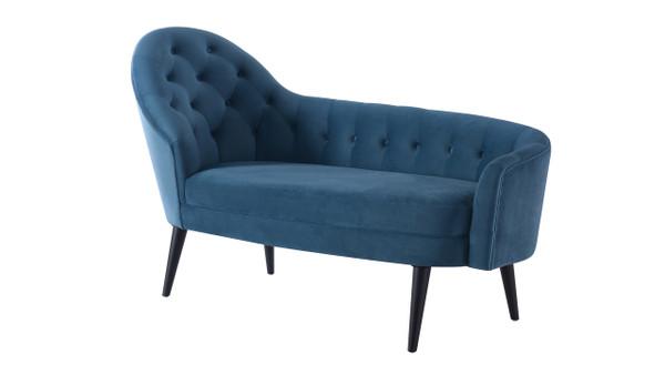 Kayleigh Tufted Chaise Lounge, Satin Teal