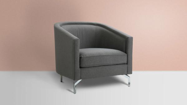 Annette Cabriole Arm Chair, Steeple Grey