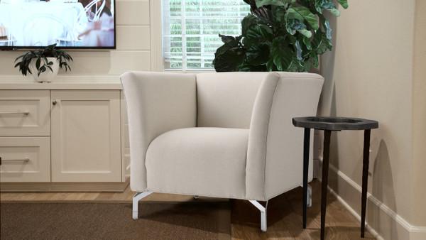 Camilla Mid-Century Modern Chair, Sky Neutral