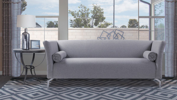 Camilla Mid-Century Modern Sofa, Light Grey