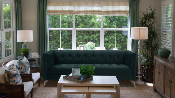 Jackson Tuxedo Sofa, Hunter Green