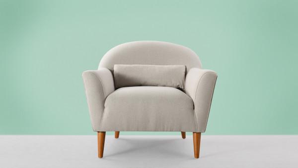Piper Recessed Arm Chair, Bone White