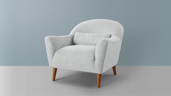 Piper Recessed Arm Chair, Sea Foam Green