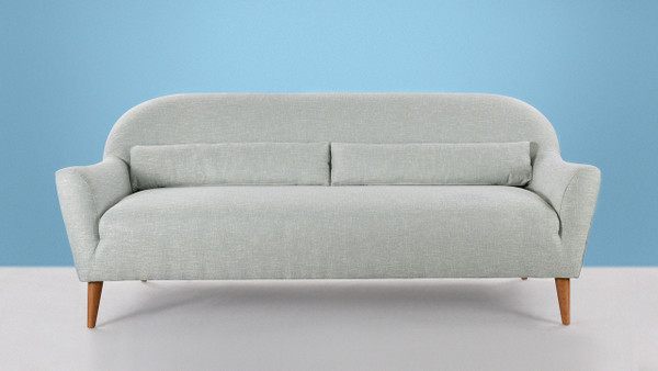 Piper Upholstered Sofa, Sea Foam Green