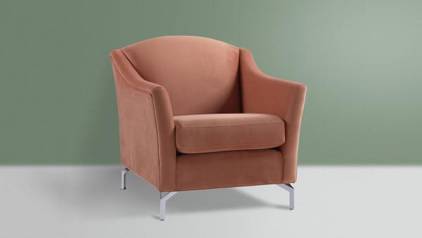 Vincent Camelback Arm Chair, Orange