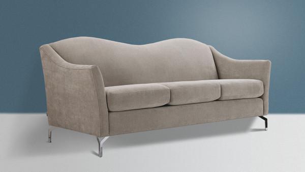 Vincent Camelback Sofa, Silver Grey