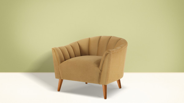 Sienna Accent Arm Chair, Gold