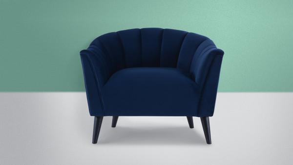 Sienna Accent Arm Chair, Navy Blue