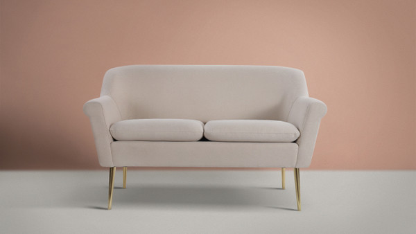 Phillipe Settee Dark, Sky Neutral