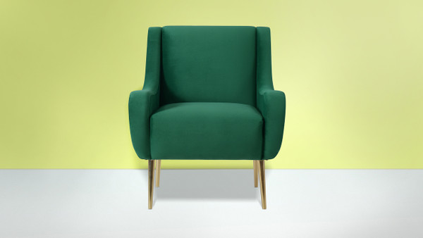 Corina Accent Chair, Ultramarine Green