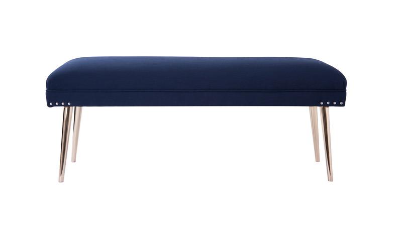 Pamela Entryway Bench, Midnight Blue