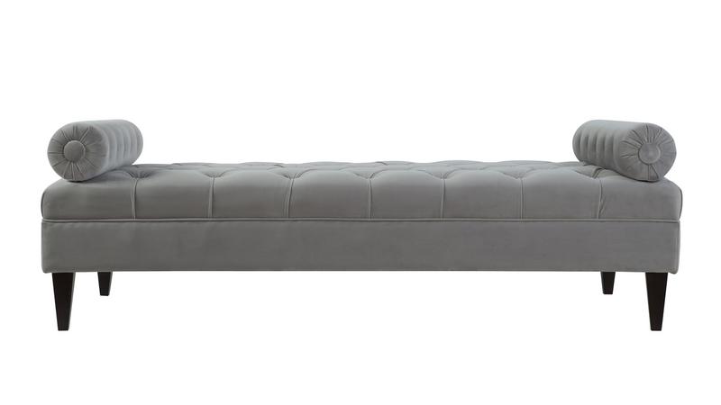 ... Robert Tufted Sofa Bed, Opal Grey ...
