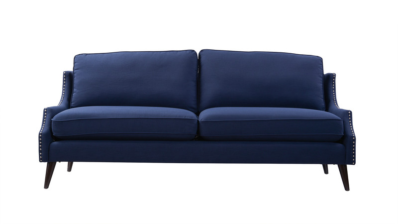 ... Ariana Upholstered Sofa, Midnight Blue ...