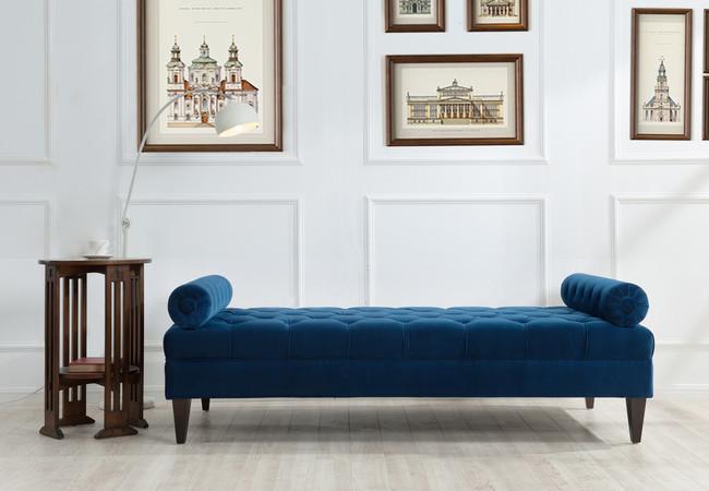... Robert Tufted Sofa Bed, Navy Blue ...
