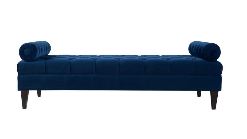 robert tufted sofa bed navy blue jennifer taylor home. Black Bedroom Furniture Sets. Home Design Ideas