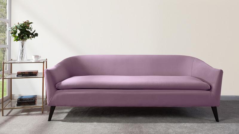... Lia Mid Century Modern Sofa, Lavender ...