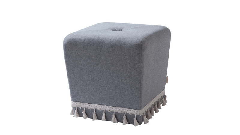 Colleen Accent Ottoman, Light Grey