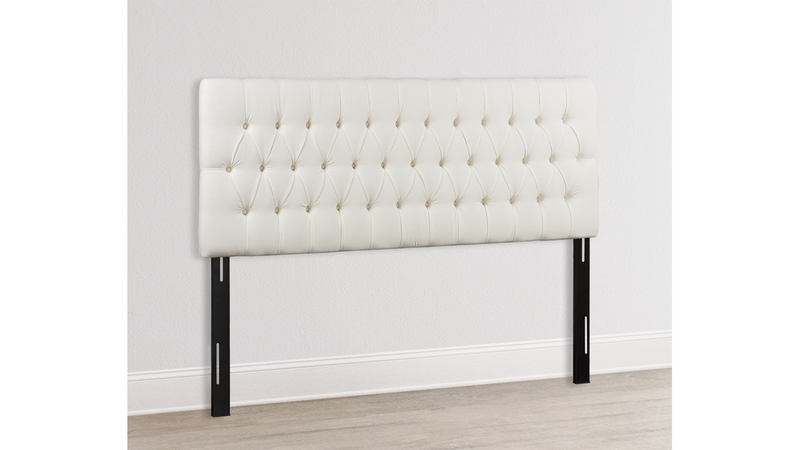 Maya Tufted Headboard, Antique White (King Size)