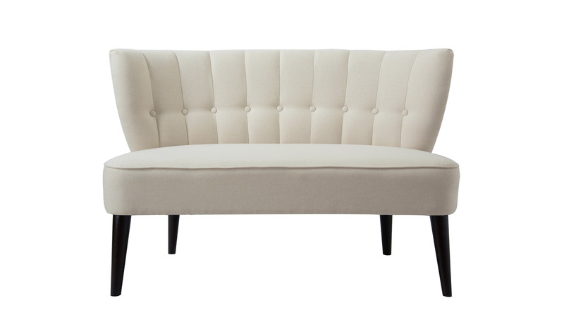 Becca Tufted Settee, Sky Neutral