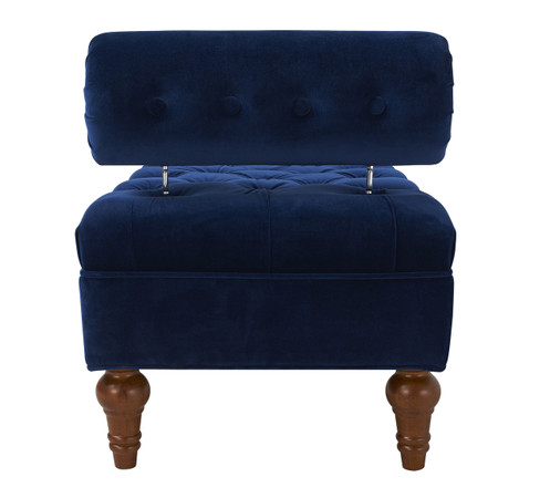 Lewis Bolstered Lounge Entryway Bench Navy Blue