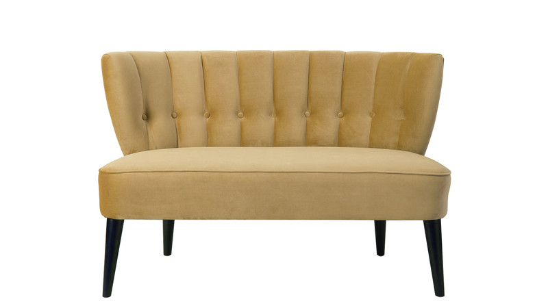 Becca Tufted Settee, Gold