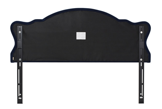 Legacy Upholstered Headboard Navy Blue King Size