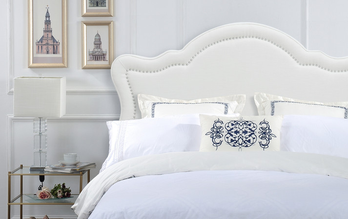 White Queen Wood Headboard White Headboard Queen White: Legacy Upholstered Headboard, Antique White (Queen Size