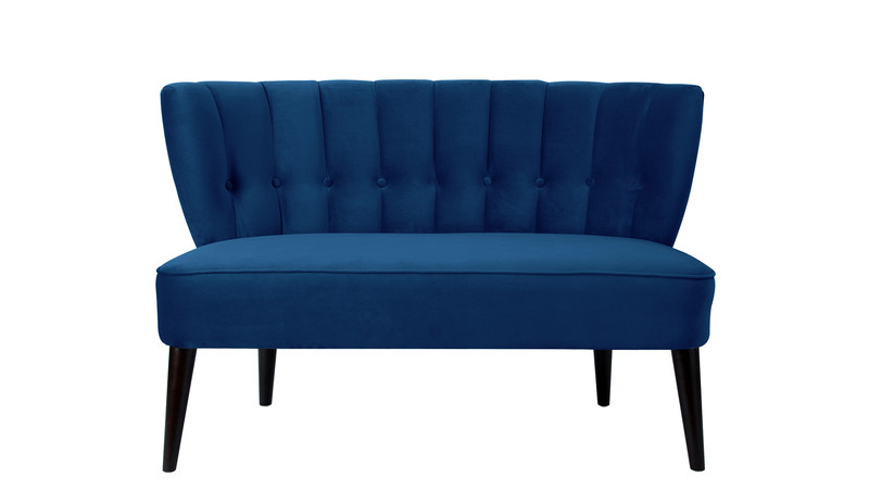 Becca Tufted Settee, Navy Blue