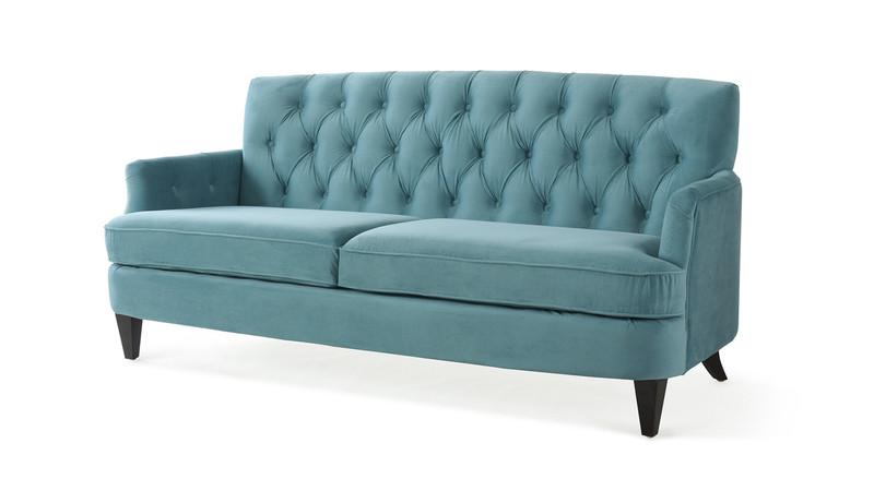 Merveilleux ... Kelly Hand Tufted Sofa, Arctic Blue ...