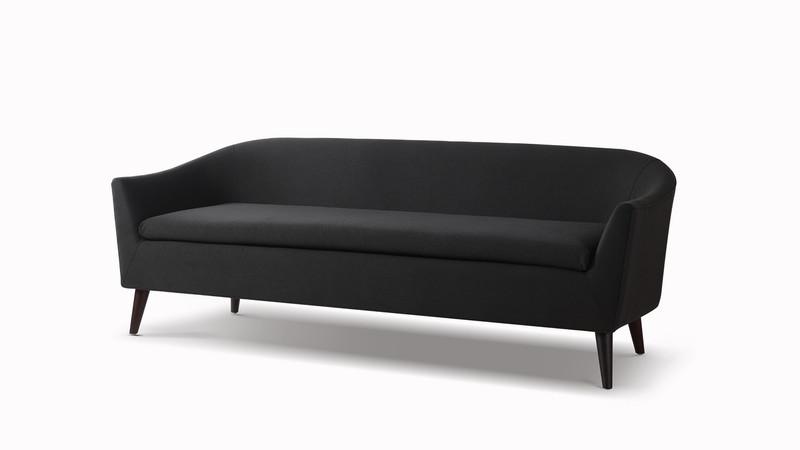 ... Lia Mid Century Modern Sofa, Jet Black ...
