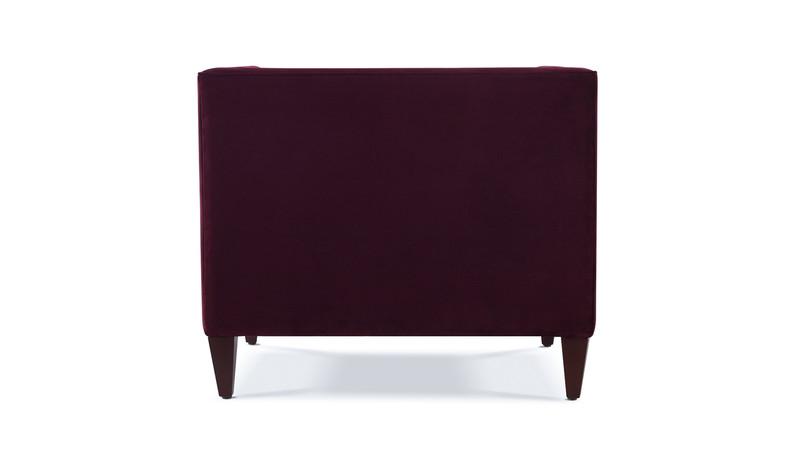 ... Jack Tuxedo Arm Chair, Burgundy ...