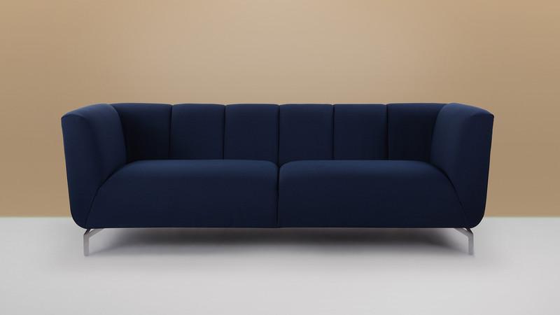 Abella Modern Contemporary Sofa Midnight Blue Jennifer