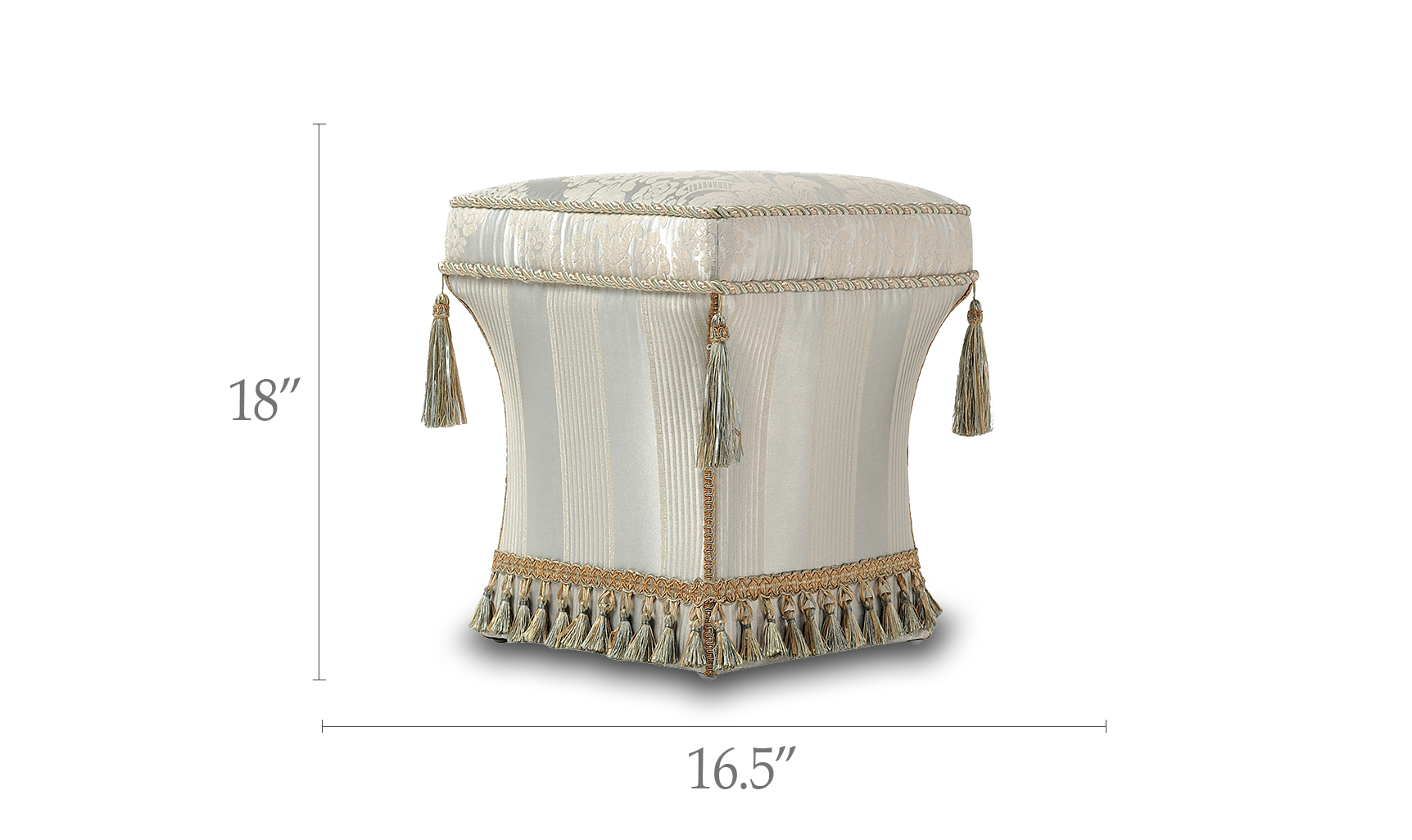 Savannah Traditional Pedestal Ottoman