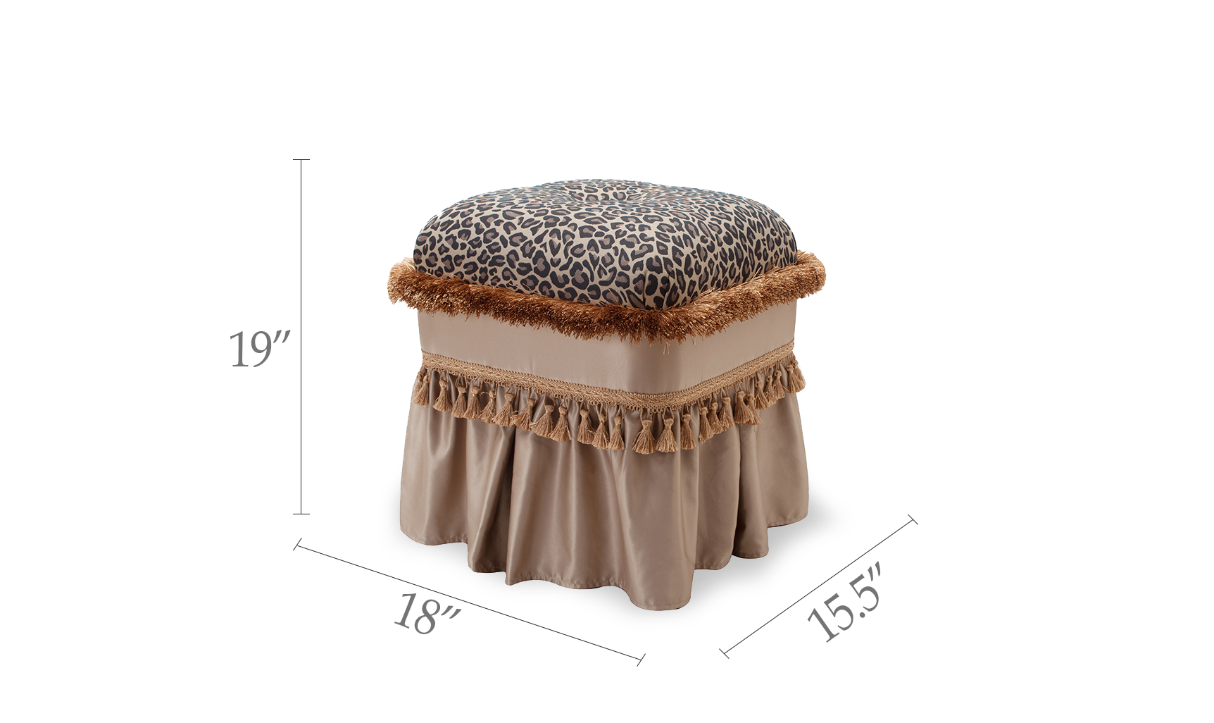 Cassandra Traditional Decorative Ottoman